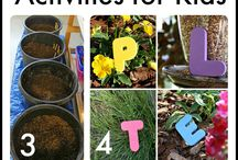 Garden Activities for Kids / Nature is fun and free