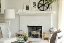 fireplace mantel / by CandiandBrian Reese