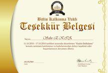 Sertifika / Belge Tasarım / Certificate design