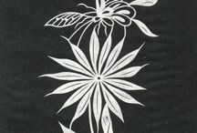 black & white illus - Flowers & Plants