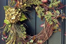 Front door decor / by Amy Johnson