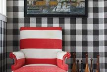 Mad for Plaid / Plaid is a classic pattern that can warm up any room.