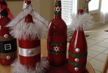 Wine bottle crafts / by Denise Moore