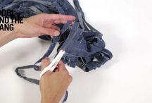 transformar calça jeans em novelo