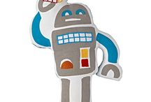 Robot Boys Room, Bot Nursery Decor