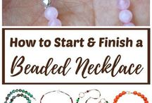 beaded necklace start and finish