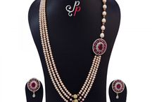 Designer Pearl Necklace in Lustrous Pink Pearls at Rs. 8,900