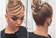 Ballroomdance hairstyles and makeup