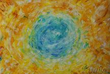 My abstract paintings / These to visions are oil paintings.