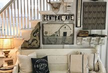 Modern Farmhouse Decor / Any home can have a farmhouse theme! Light natural colors and grays give your home a fresh, clean country atmosphere