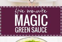 5 min. Green sauce