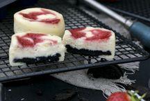 Cheesecake mit Oreokeksboden u.Erdbeerpüree