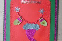 DIY Christmas Cards / Cute Handmade Christmas Cards. :)