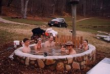 Wood hot tube