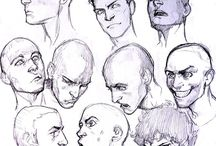 character heads