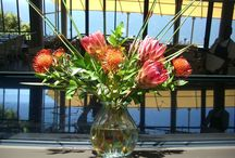 Flower Arrangement Inspiration / Floral arrangements put together by Fabulous Fynbos for restaurants, businesses and homes.