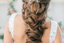 wedding || bridal hair / Romantic, modern, elegant bridal hairstyles