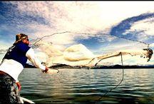 Увлекательная рыбалка кастинговой сетью ( закидушкой ).