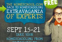 "Back to Homeschoool Extravaganza!!! / Would you like to take your homeschooling from ordinary to extraordinary? We interviewed 20 experts and asked them for their advice on how you can take your homeschooling to a higher level -- with ease and joy.  We also asked them if they would answer your personal questions for one week. They said yes!    Join us Sept 15-23 for Homeschool.com's ""Extravaganza of Experts."""