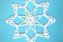 Szydełkowe Śnieżynki i Gwiazdki - Crochet Snowflakes