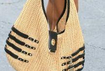 bolsas  de crochê  de sisal