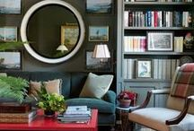 Bookshelf Accessorizing / These bookshelves are styled to perfection without looking too fussy.