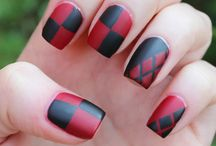 Harley Quinn nails
