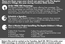 The Baptist Children's Village / We want to provide opportunities and resourcs for you, your church and your community to support the work of The Baptist Children's Village which helps children who suffer from family crisis including abuse and neglect and helps keep families together when possible.  We have 7 residential campuses for children in Mississippi and have an in-home support program for families.    To learn more visit www.baptistchildrensvillage.com