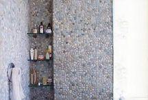 Stone shower tiles / Different idea