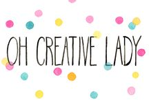 Oh Creative Lady / Through blogging and Instagramming, I've been introduced to an amazing Virtual Sisterhood of Creative Ladies.  The Oh Creative Lady series is your chance to meet these incredible, kind-hearted, inspiring <insert ALL the happy, positive adjectives HERE> women.