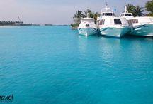 Malediwy z Haxelm / Potwierdzamy - Malediwy to zrealizowane marzenie o pobycie w raju... na ziemi!  Dookoła jedynie bezkres oceanu, czyste piaszczyste plaże, rafa koralowa ...