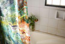 Ambatik / Manteleria y blanco con estampa textil