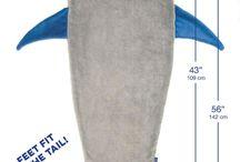 boys shark  blanket
