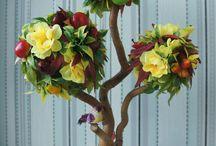 топиарии / Топиарии, дерево счастья, кофейные деревья.