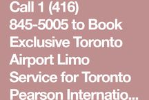 Toronto Pearson Airport YYZ Limousine Services 1 416 845 5005 / 24 Hrs a day, 365 days a year Book Exclusive Limousine Services from Office, Home, Hotel, Conference Place any address to Toronto Pearson Airport (YYZ) & Billy Bishop City Airport (YTZ)