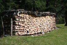 La legna da ardere / L'uomo e la legna. Come stoccarla in maniera corretta.