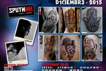 Calendario Tatuadores 2015 / Calendario digital de tatuadores españoles. Cada mes, tatuajes destacados de artistas de tattoo studios en España.