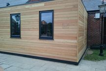 Play Box Hull - Timber Clad Play Room / Our latest completed project, made at Buiding with Frames, and taken up to site in Hull. Bolted on to an existing pub building. However , we can offer these as a stand alone option for schools, pubs or family space.