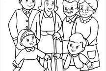 rodina pracovné listy