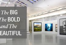 Go Bold with Oversized Art / Making a big, bold and attention-grabbing art the focal point of a room might seem like a daring thing to do, but Artflute is here to show you how going bigger can be better.