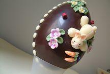easter, bunnies, chicks, eggs