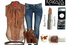 Karaja Moods / Karaja make up moods met voorbeelden en leuke moodsbord in trend kleuren.