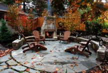 Landscaping Ideas / Ideas on ways to landscape the new yard and patio area come this Spring/Summer.