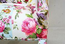 Florale Einrichtung- Floral Furniture- Floral Living / Leben mit floralen Design und Dekor- Living with floral design and decor