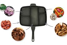 One Pan Cooking / Get your hands on our KuKoo Multi-Section frying pan - the ultimate kitchen gadget - great for singletons and bachelors or small families and anyone who loves camping. You'll save on the washing up too! | 01347 878888