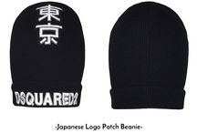 DSQUARED2- Japanese Logo Patch Beanie