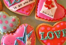 Valentine / love cookies