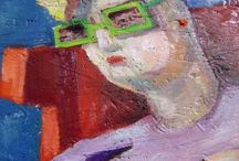 Old single woman - watching series / Painting of Imre Karrus Szekeres.