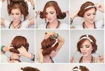 oppsett. hår.