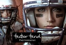 American football women portrait